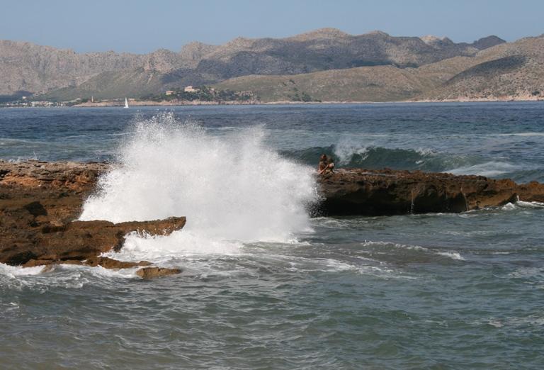 Foto playa Cala Morlanda. Les dangers de la pêche.