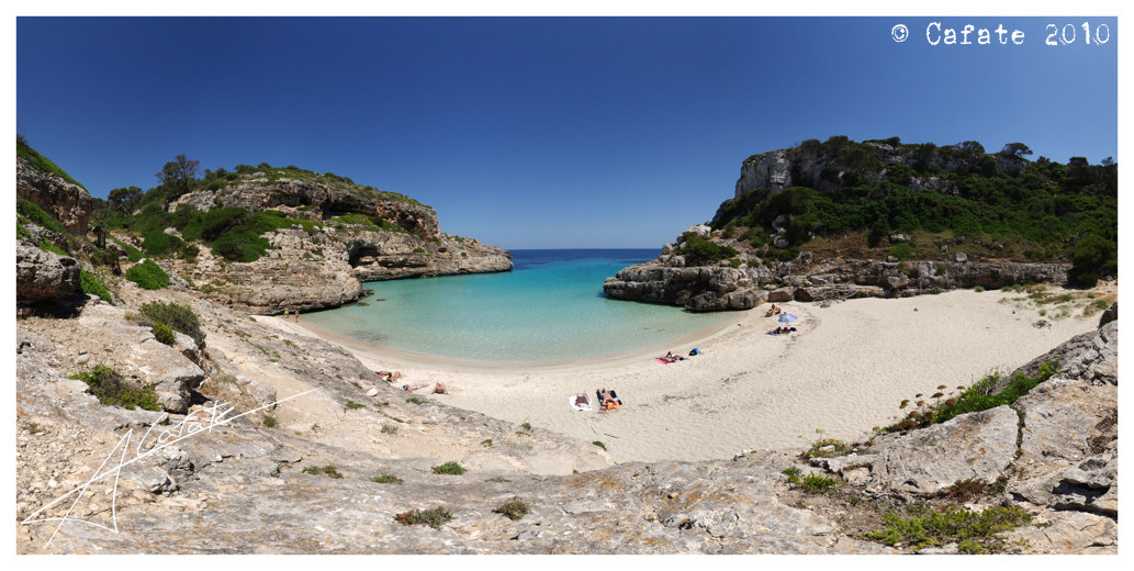 Foto playa Cala Marmols. Panorama 18.000 x 9.000 pixel - Cala Màrmol - click on the link below for see in 3D - Buy a print in - http://cafate.blogspot.com/