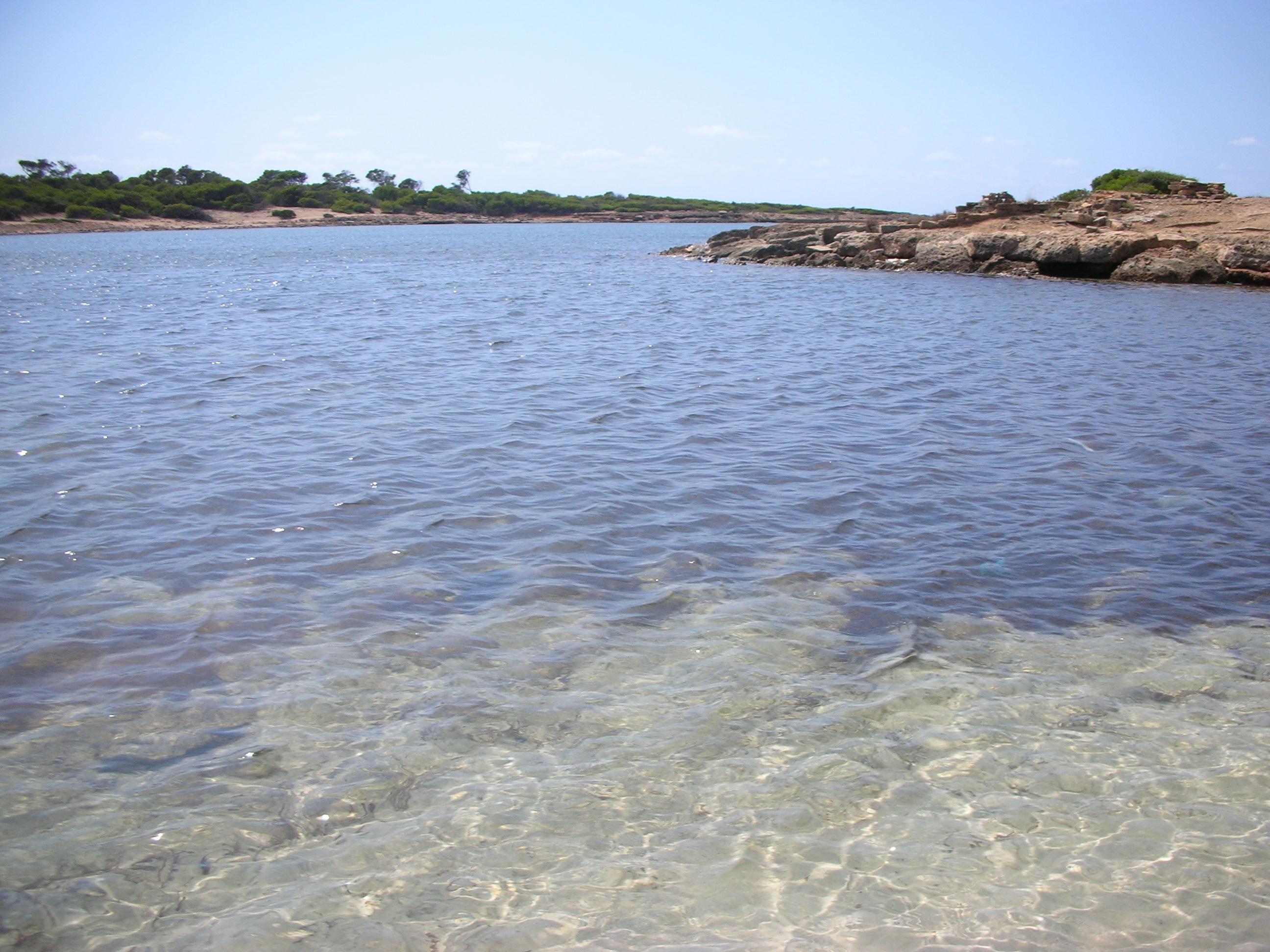 Foto playa Cala en Tugores. Cala Entugores