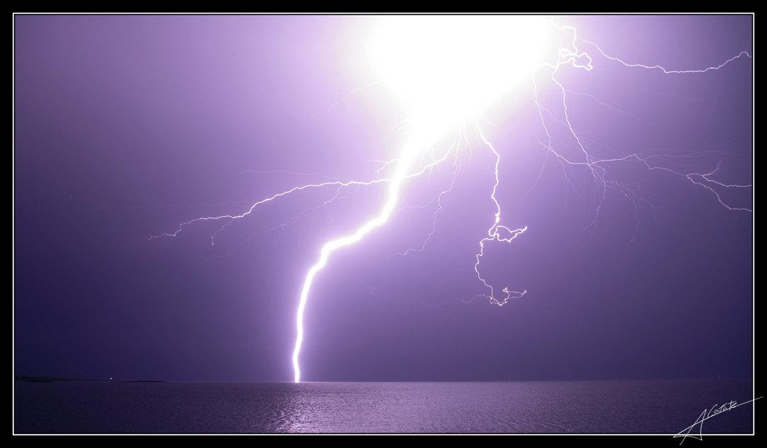 Foto playa Cala Galiota. Tormenta Colònia de Sant Jordi - Buy a print in -  http://rayos-lightning.blogspot.com/
