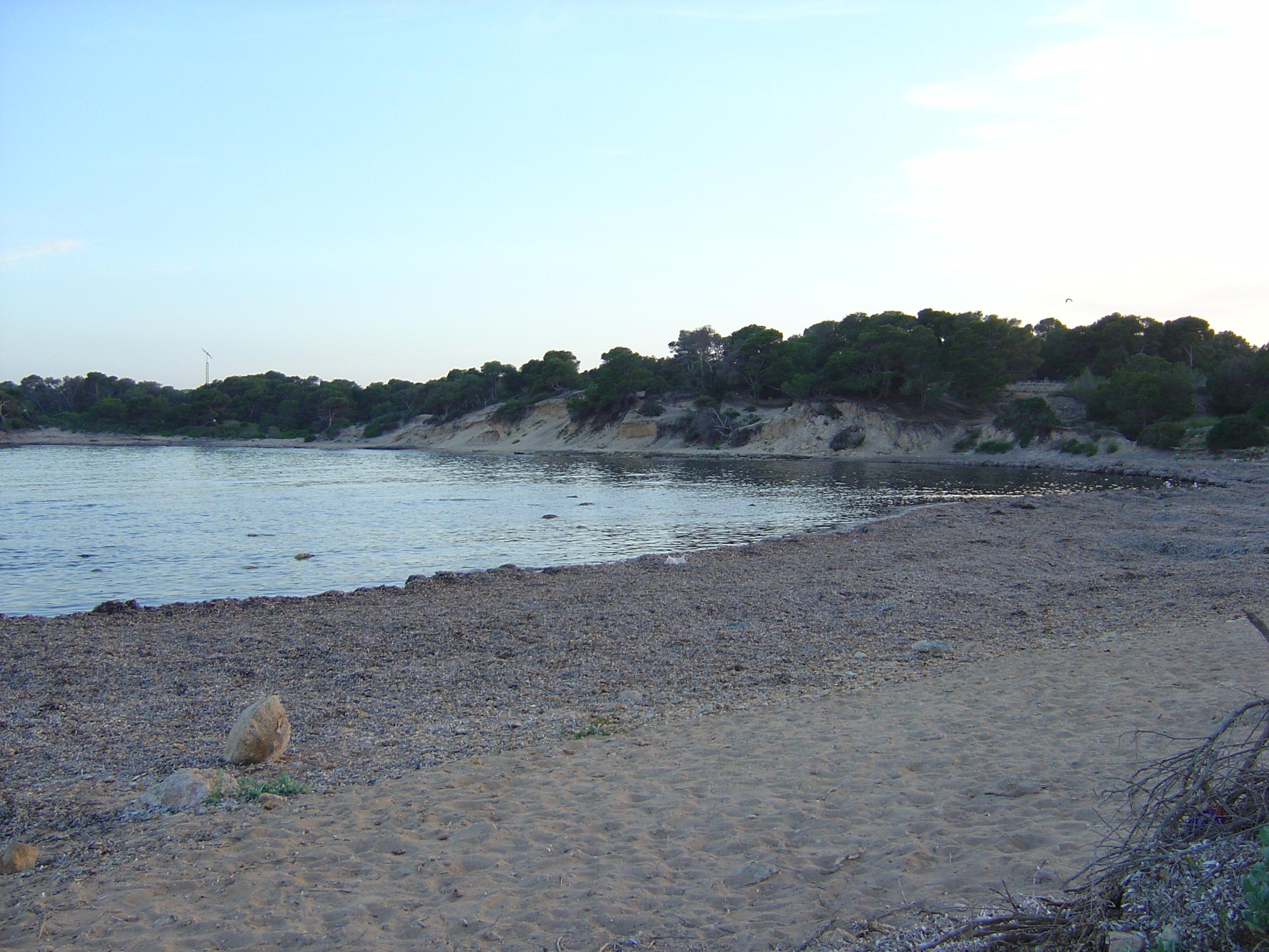 Foto playa Caló En Timo. Es Racó de S´Arena.  S´Estanyol.