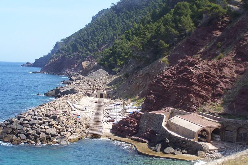Foto playa Cala Estellencs. Cala de Estelencs