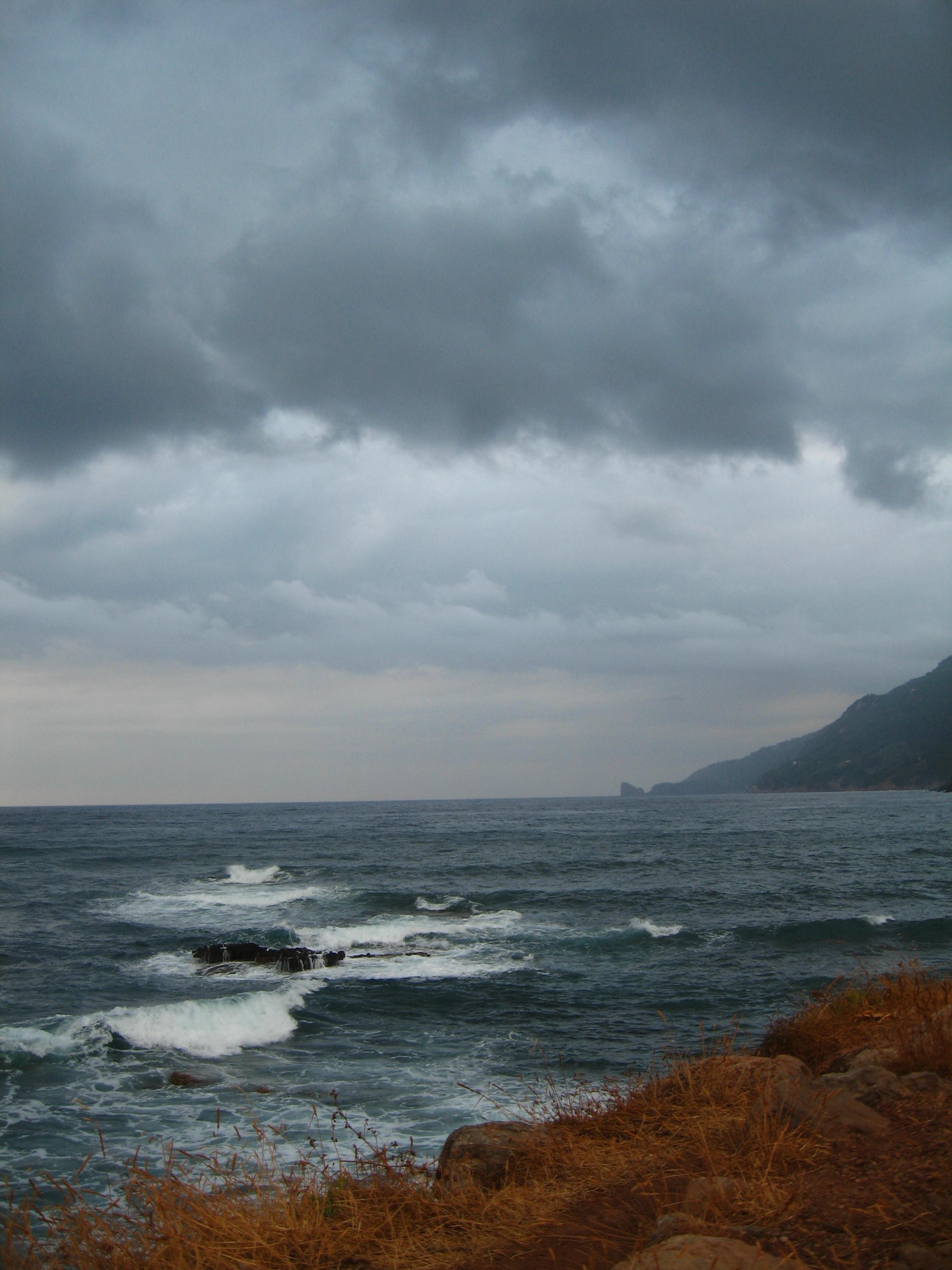 Foto playa Son Bunyola. tormenta