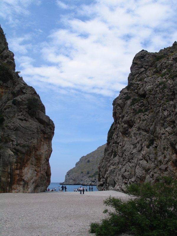 Foto playa Torrent de Pareis. SaCalobra