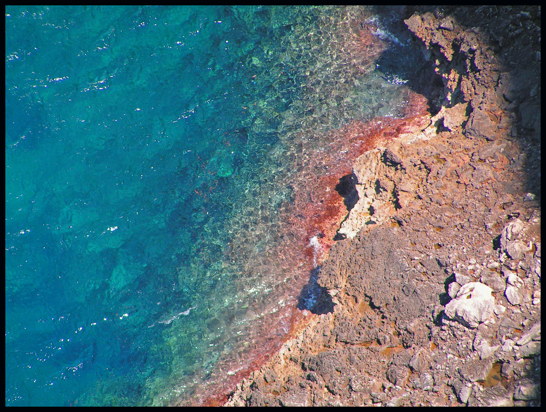 Foto playa Cala Boquer. Pollença, roques