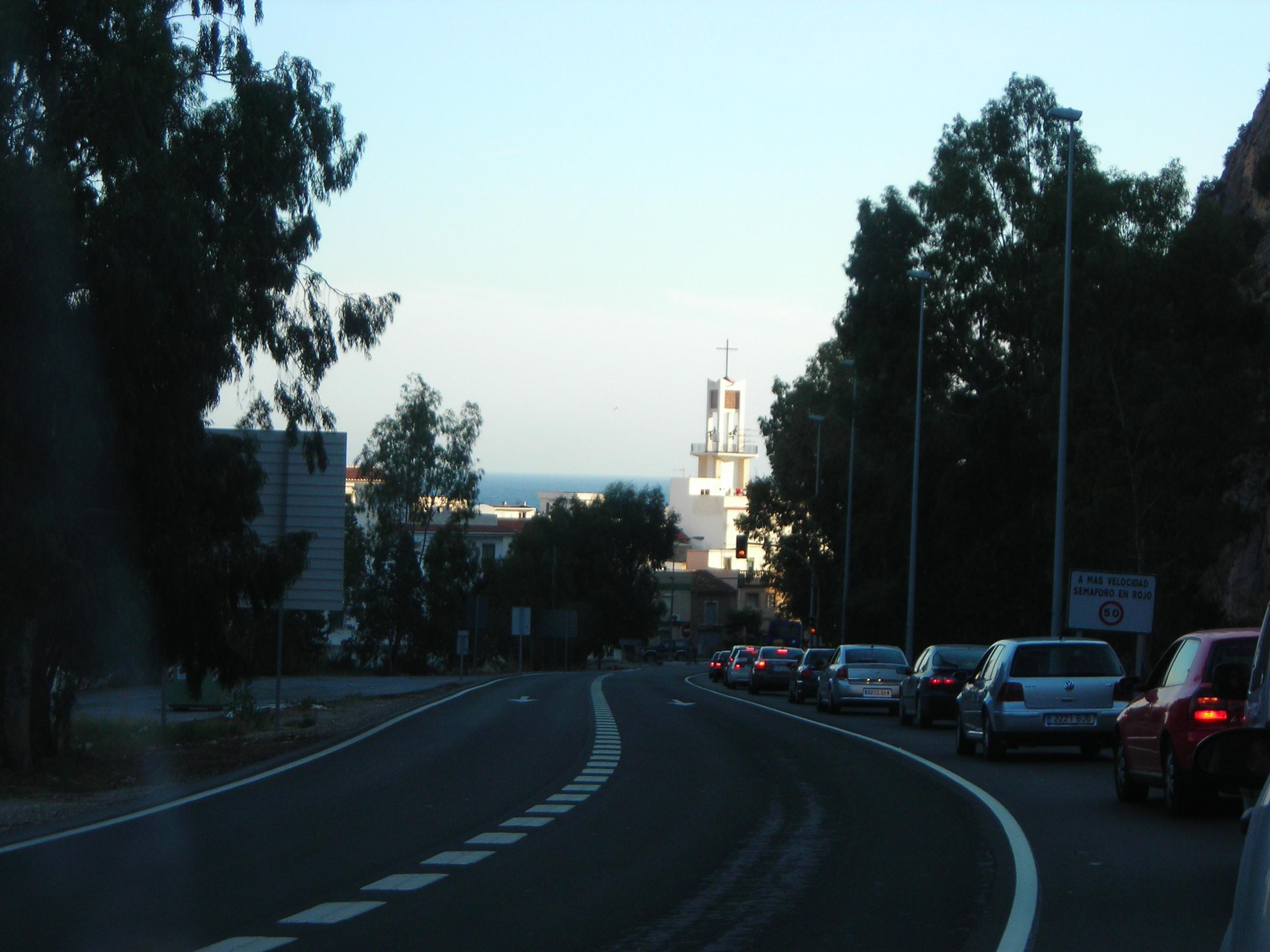 Foto playa Sotillo / Castell de Ferro. Cerca de Castell de Ferro, en el tramo donde aún no es autovía.