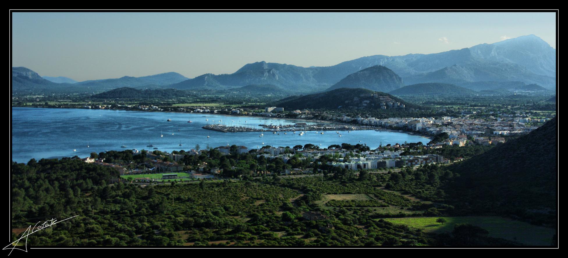 Foto playa Cala En Feliu. Panoramica Port de Pollença - Buy a print in - http://cafate.blogspot.com/