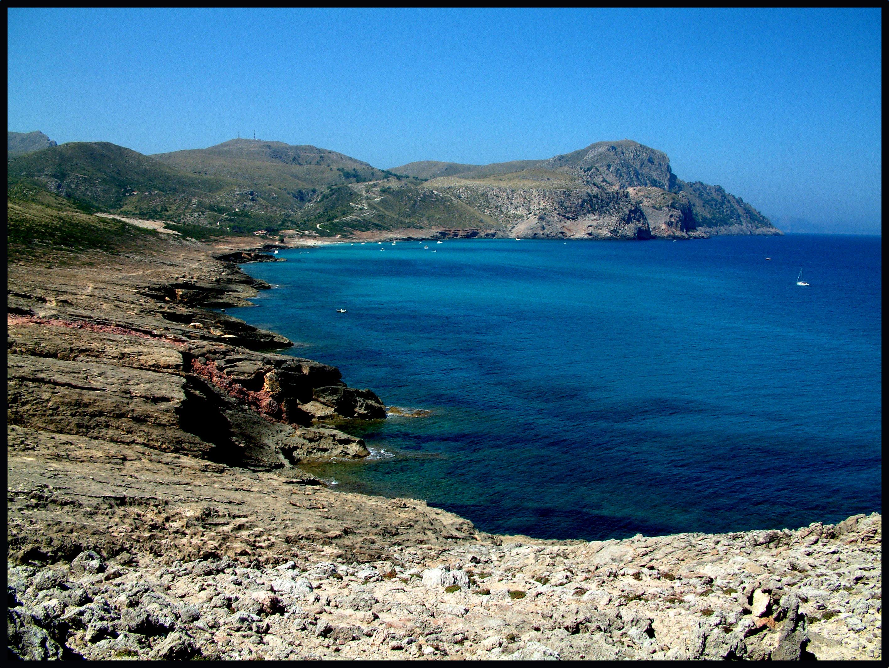 Foto playa Sa Font Salada. vista des verger d´ubarca