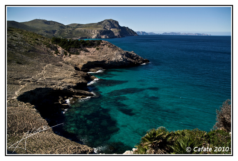 Foto playa Sa Font Salada. Penyasegat Aubarca - Costa d´Artà - Buy a print in - http://cafate.blogspot.com/