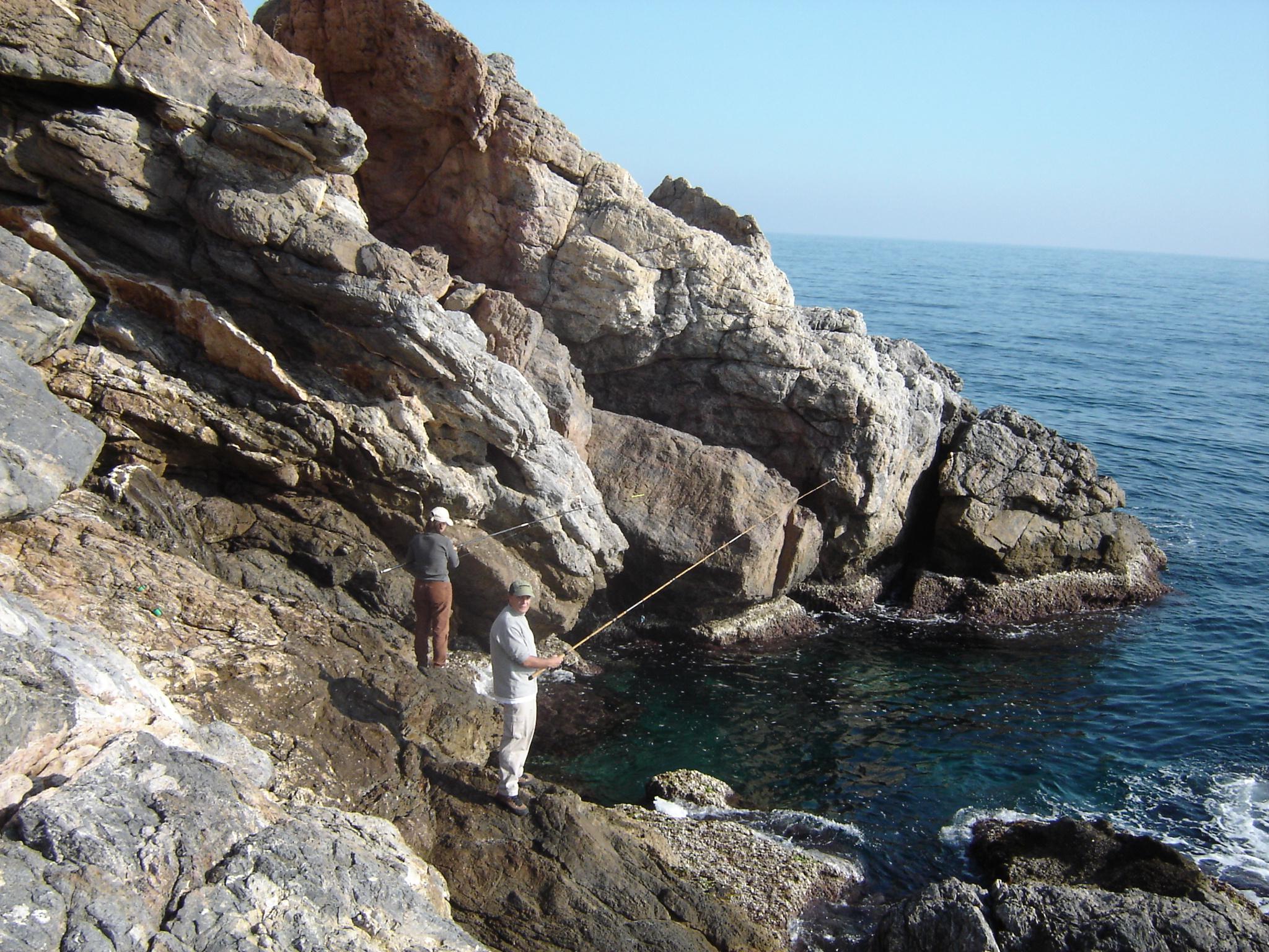 Foto playa La Rijana. De pesca en Rijana Ene2007