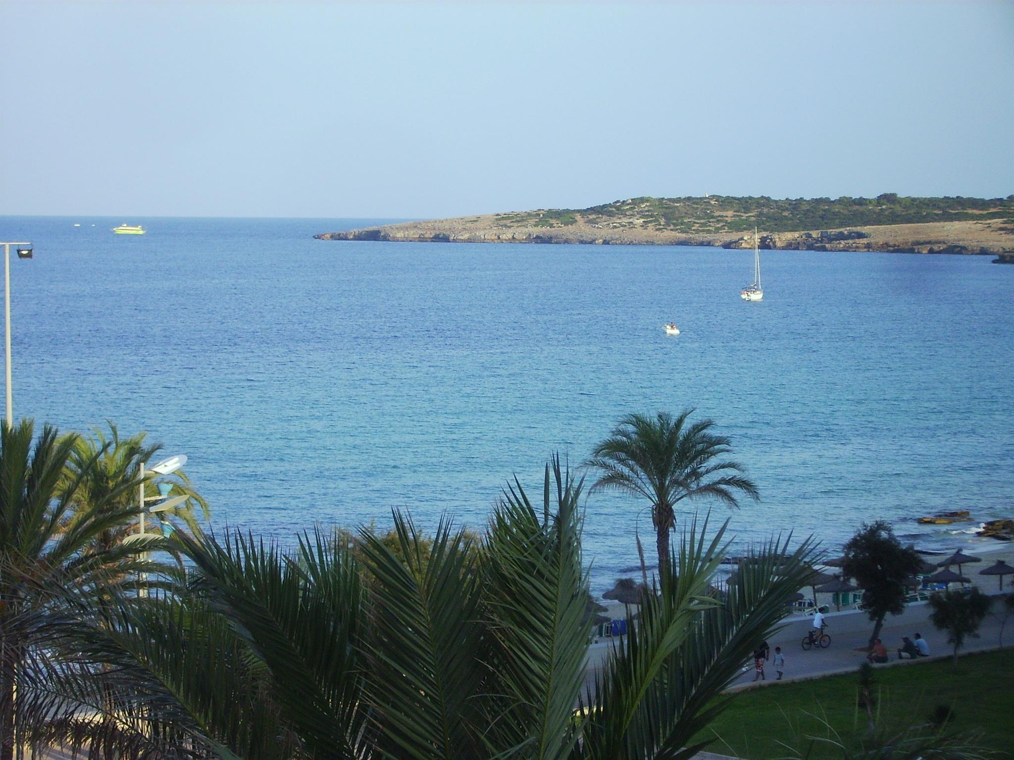 Foto playa Cala Nau. Cala Millor, Blick vom Zimmer, Hotel Flamenco