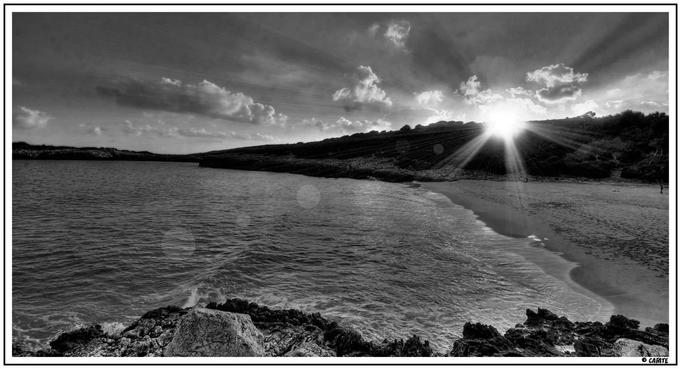 Foto playa Cala Varques. Cala Varques - Mallorca - B&W - Buy a print in - http://cafate.blogspot.com/