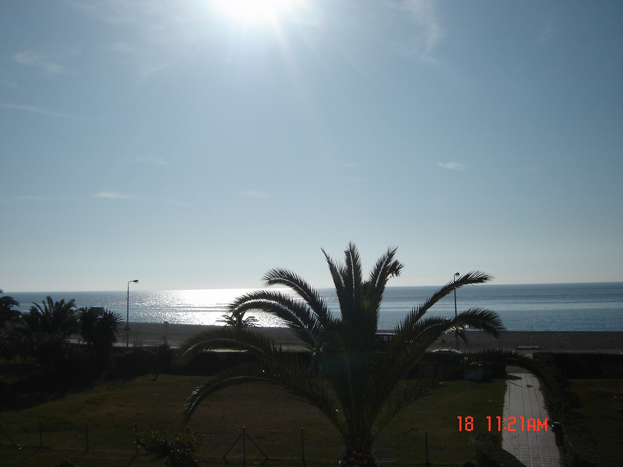 Foto playa Carchuna. Desde mi dormitorio