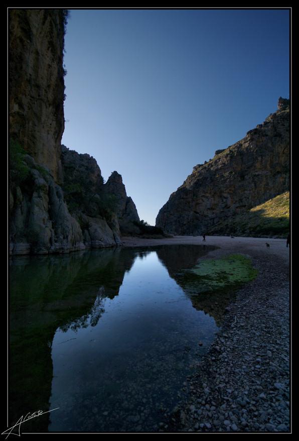 Foto playa Cala Capellans. Sa Calobra - torrent de Pareis -  Mallorca - Buy a print in - http://cafate.blogspot.com/