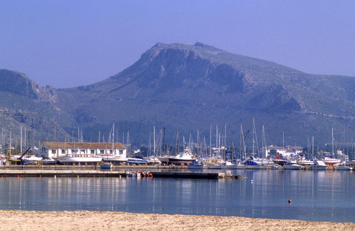 Foto playa Port de Pollença / Platja de Llenaire / Platja dels Tamarells. Port de Pollenca, Mallorca, E