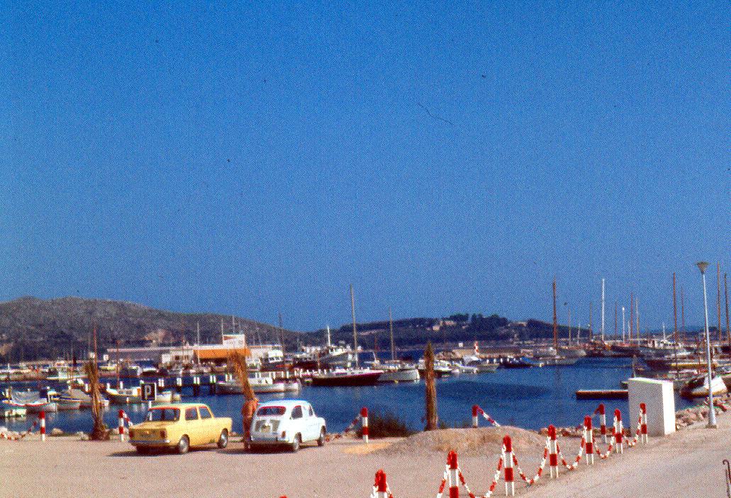 Foto playa Platja d´Albercuix / Albercutx. Octubre1973. Playa de Puerto de Pollensa.