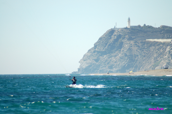 Foto playa La Chucha. Kite en Sacratif