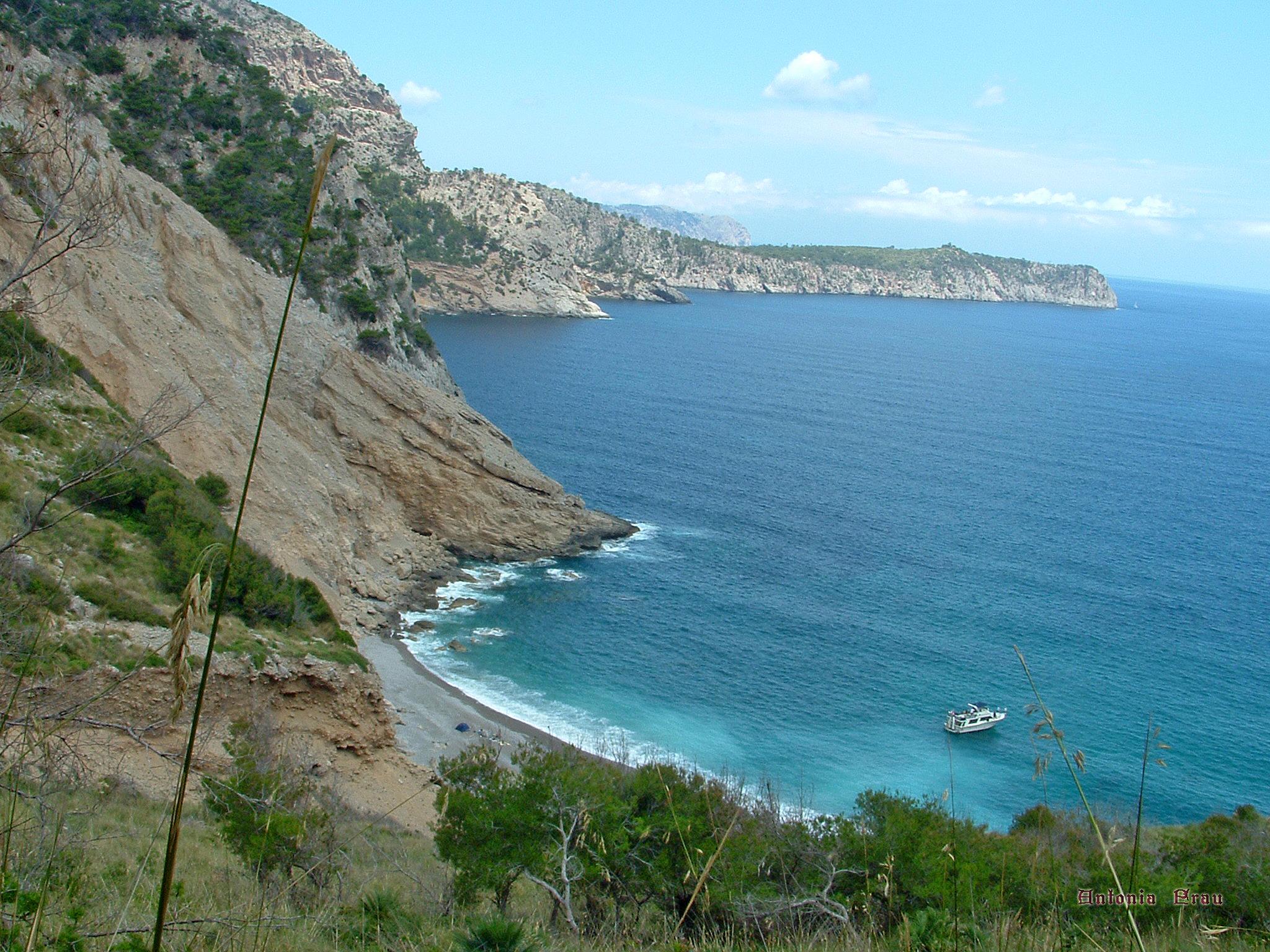 Foto playa Coll Baix. Coll Baix, anfiteatro natural