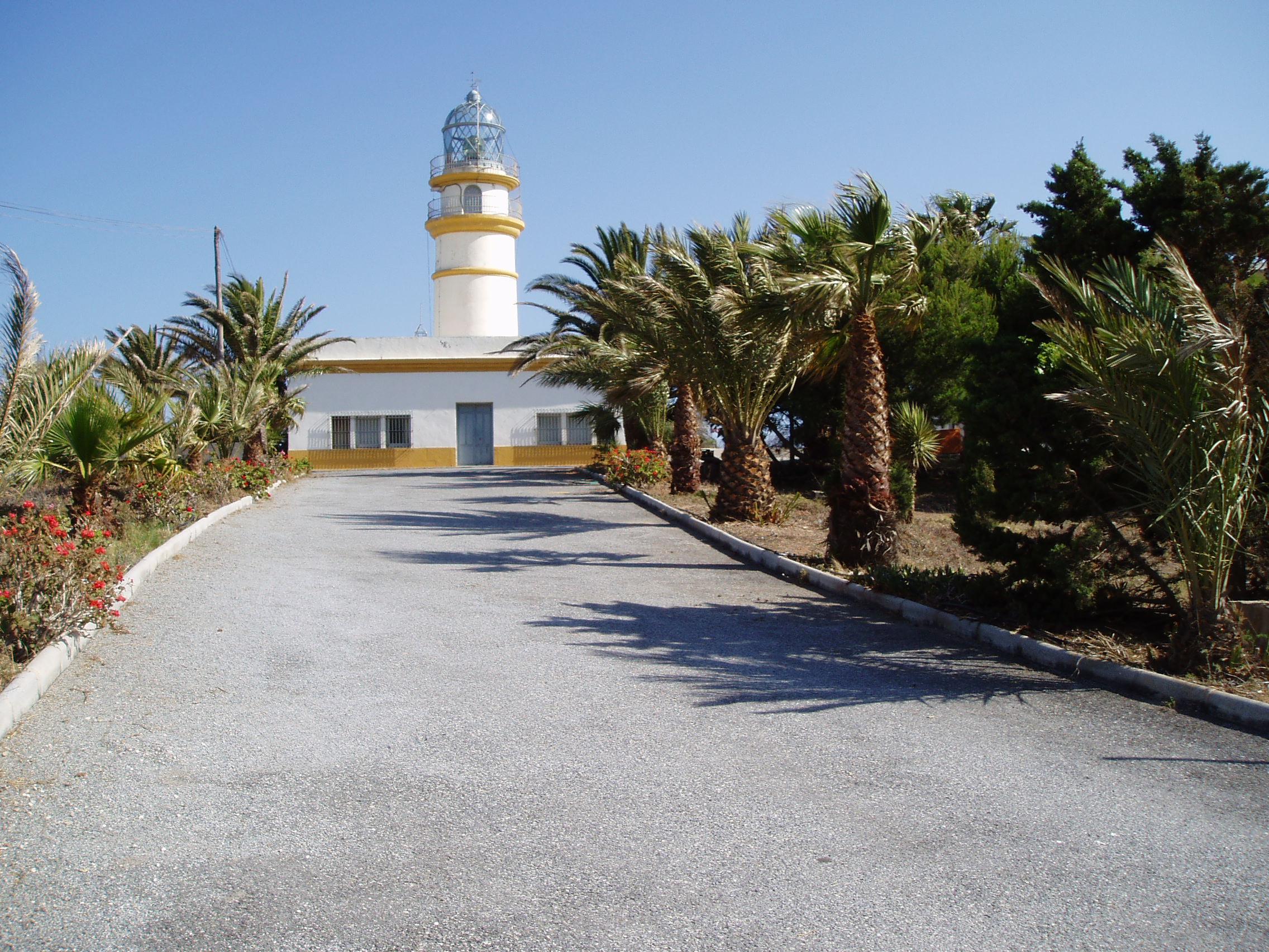 Foto playa La Joya. Faro Sacratif. Torre Nueva