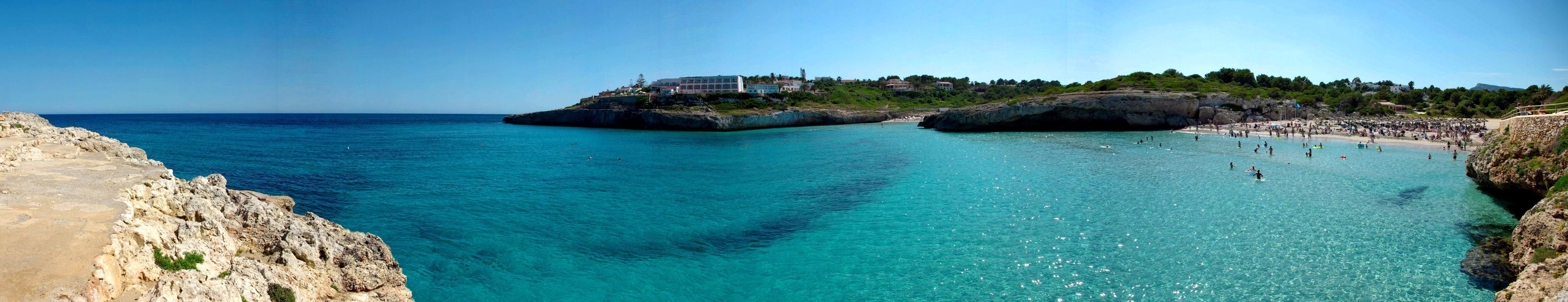 Foto playa Porto Cristo / Platja d´es Port / Coves Blanques. Panoramica Cala Domingos Mallorca - Buy a print in - http://cafate.blogspot.com/