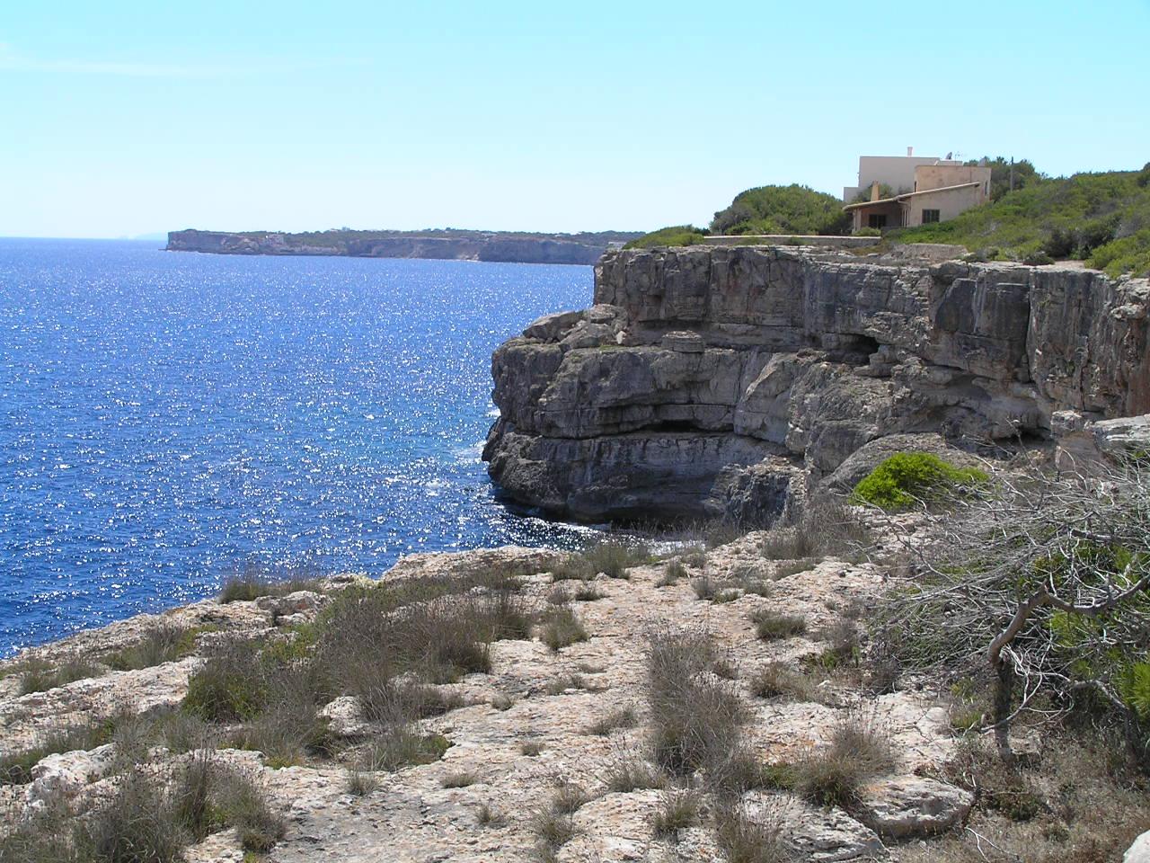 Foto playa Caló de Sa Torre. Vista Sud desde can Urzo P8070347