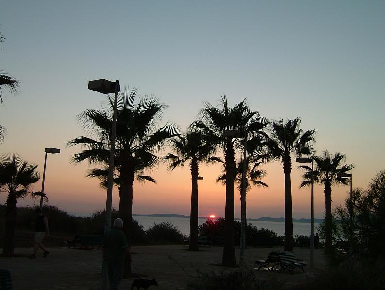 Foto playa Cala Blava. Puesta de Sol