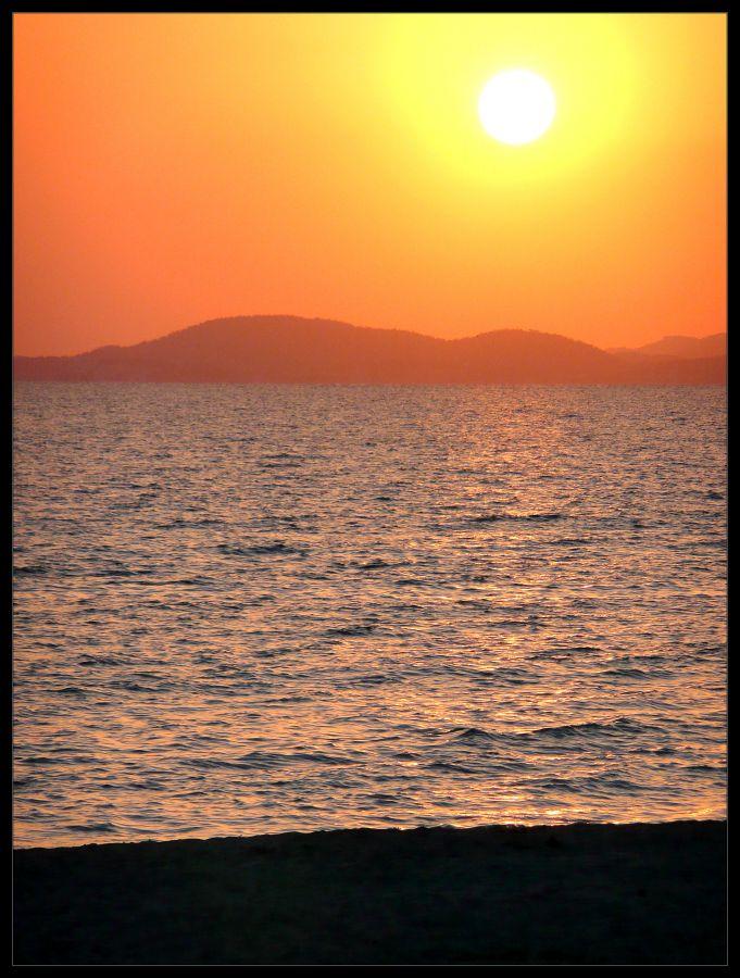 Foto playa Espalmador. Atardecer Palma Mallorca