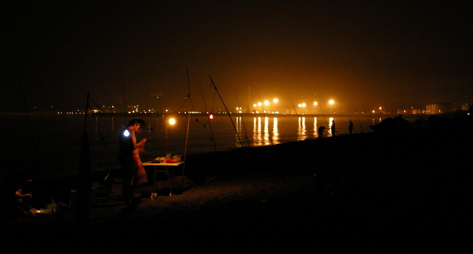Foto playa Azucenas. La noche de pesca