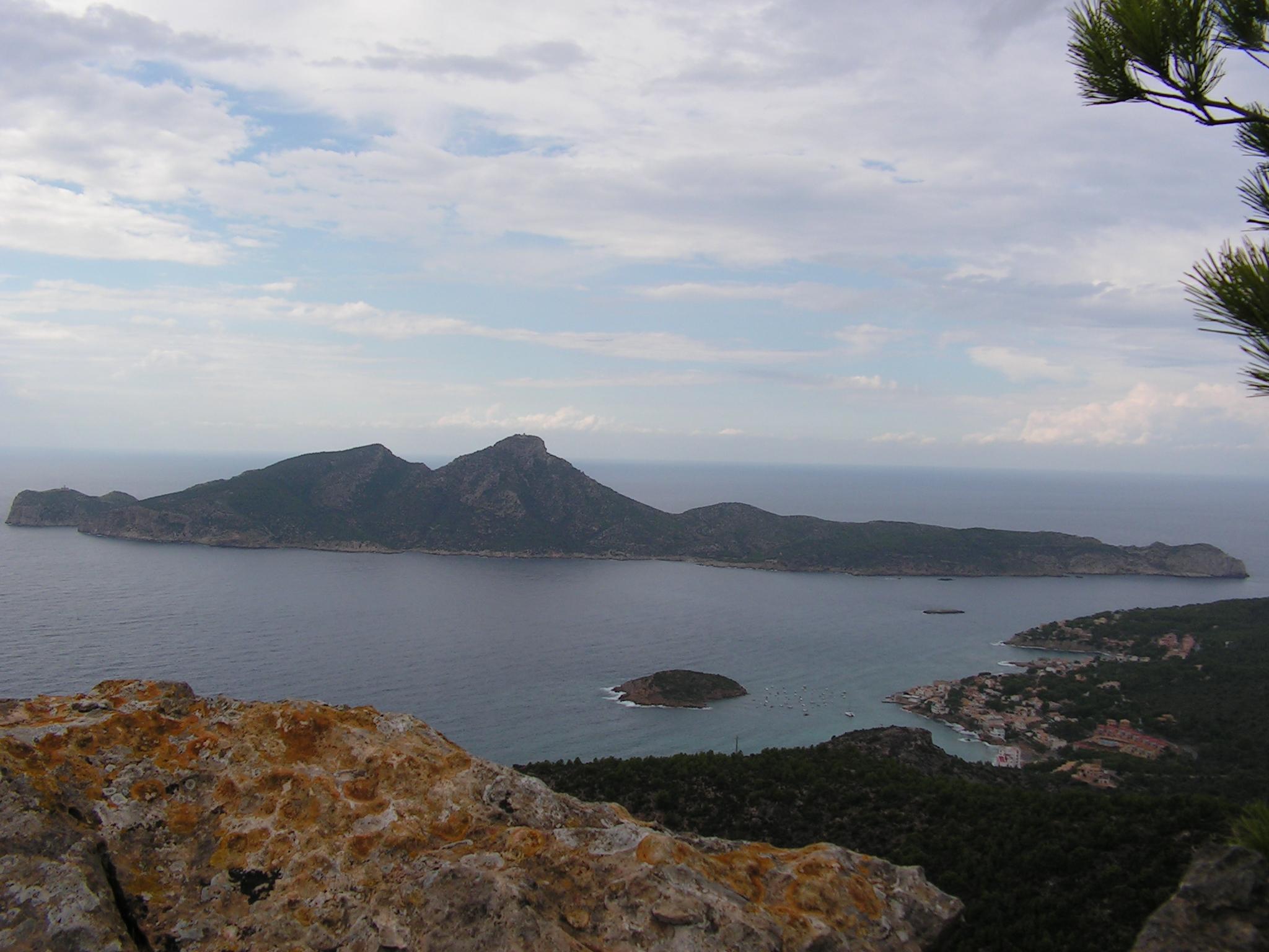 Foto playa Cala Conills. vista Sant Elm y Sa Dragonera