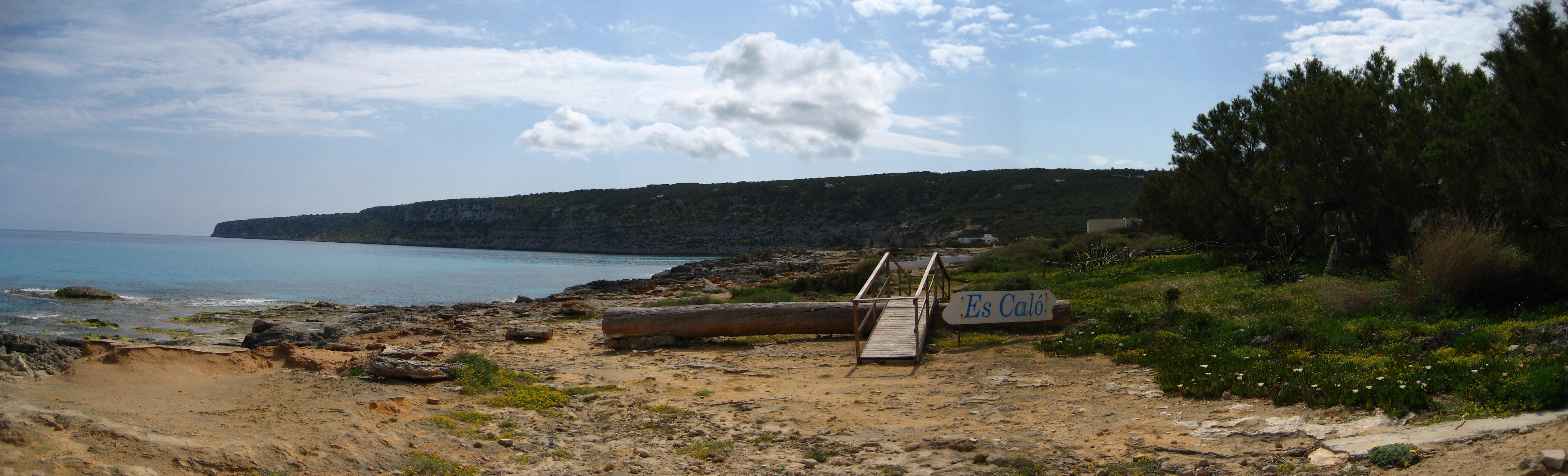 Foto playa Es Caló. Es Caló
