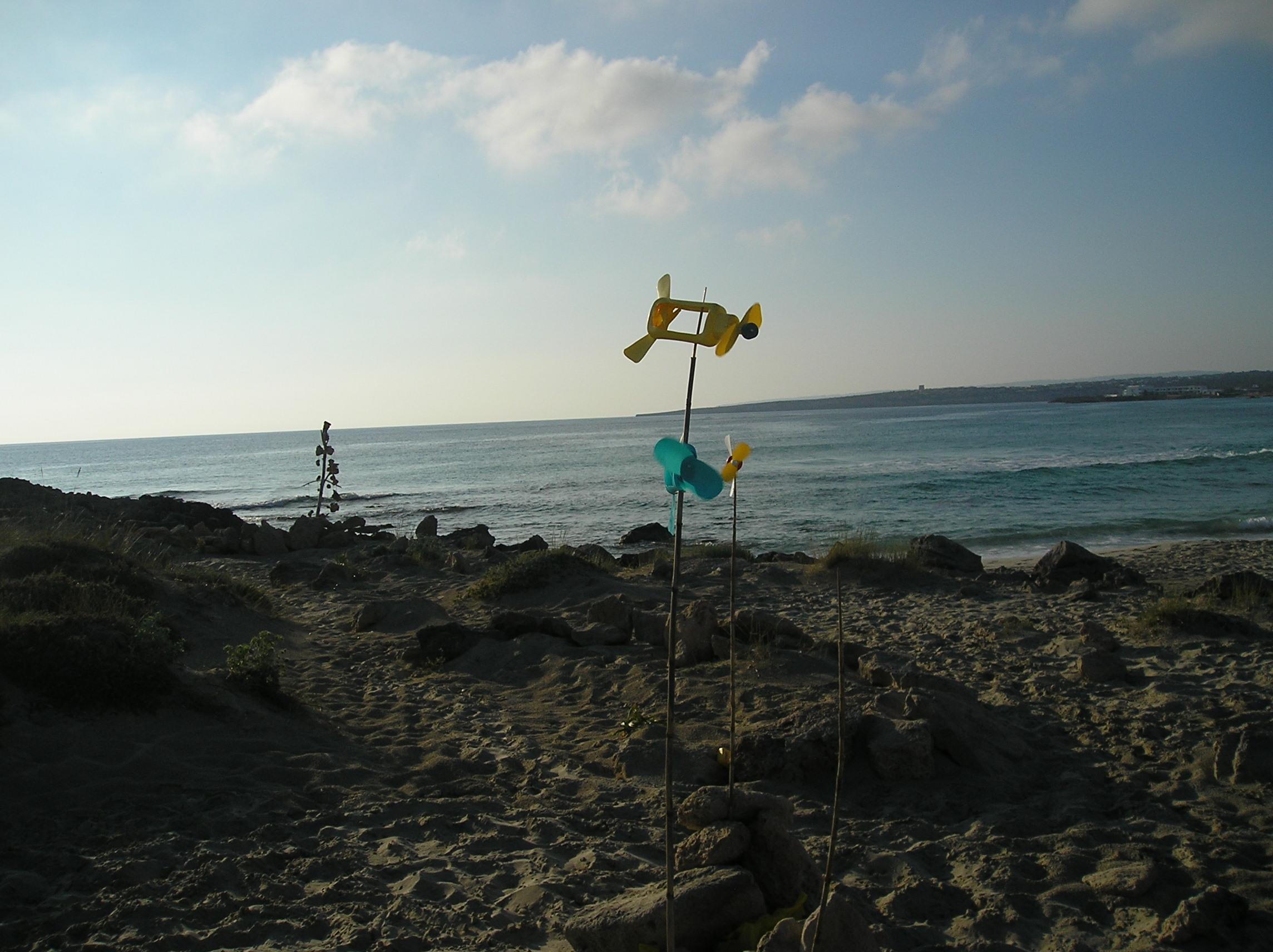 Foto playa Platja de Llevant. Juguetes del viento