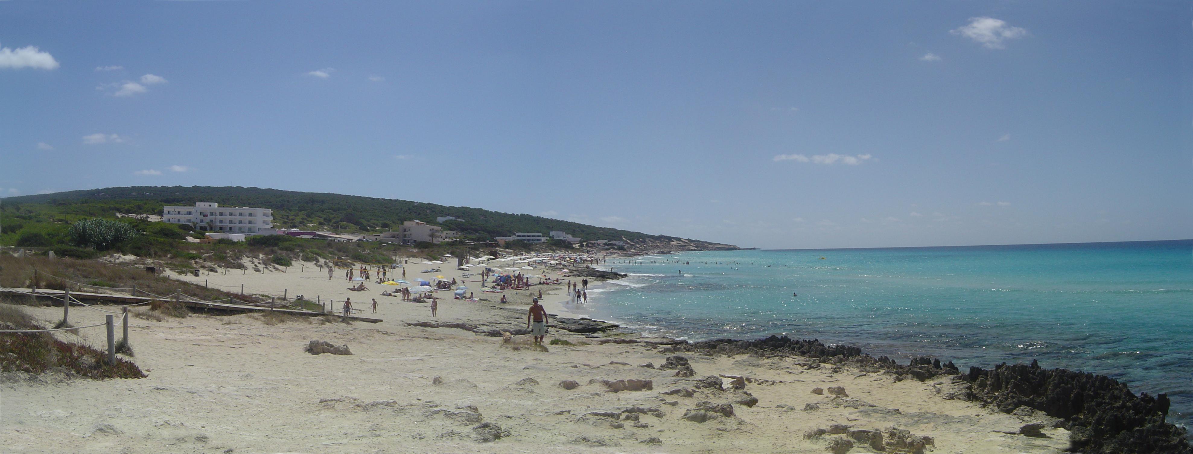 Foto playa Els Arenals. Es Arenals Formentera