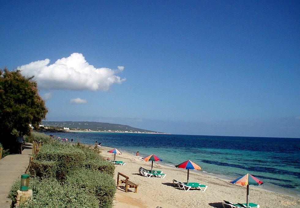 Foto playa Es Migjorn. Mitjorn Beach, Formentera