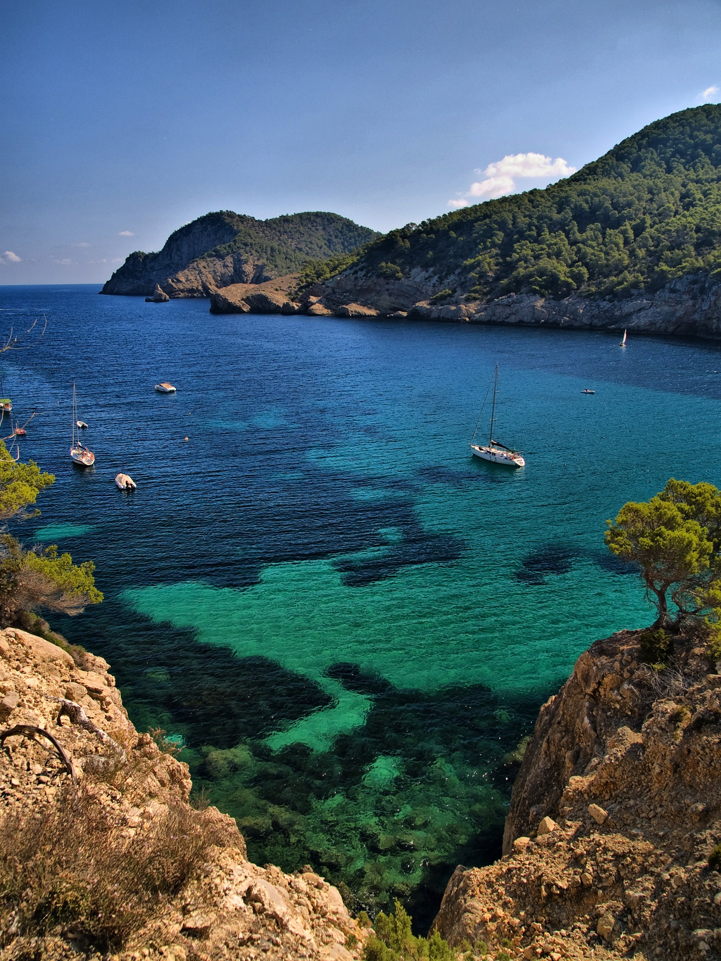 Foto playa Port de Sant Miquel. Fons marí