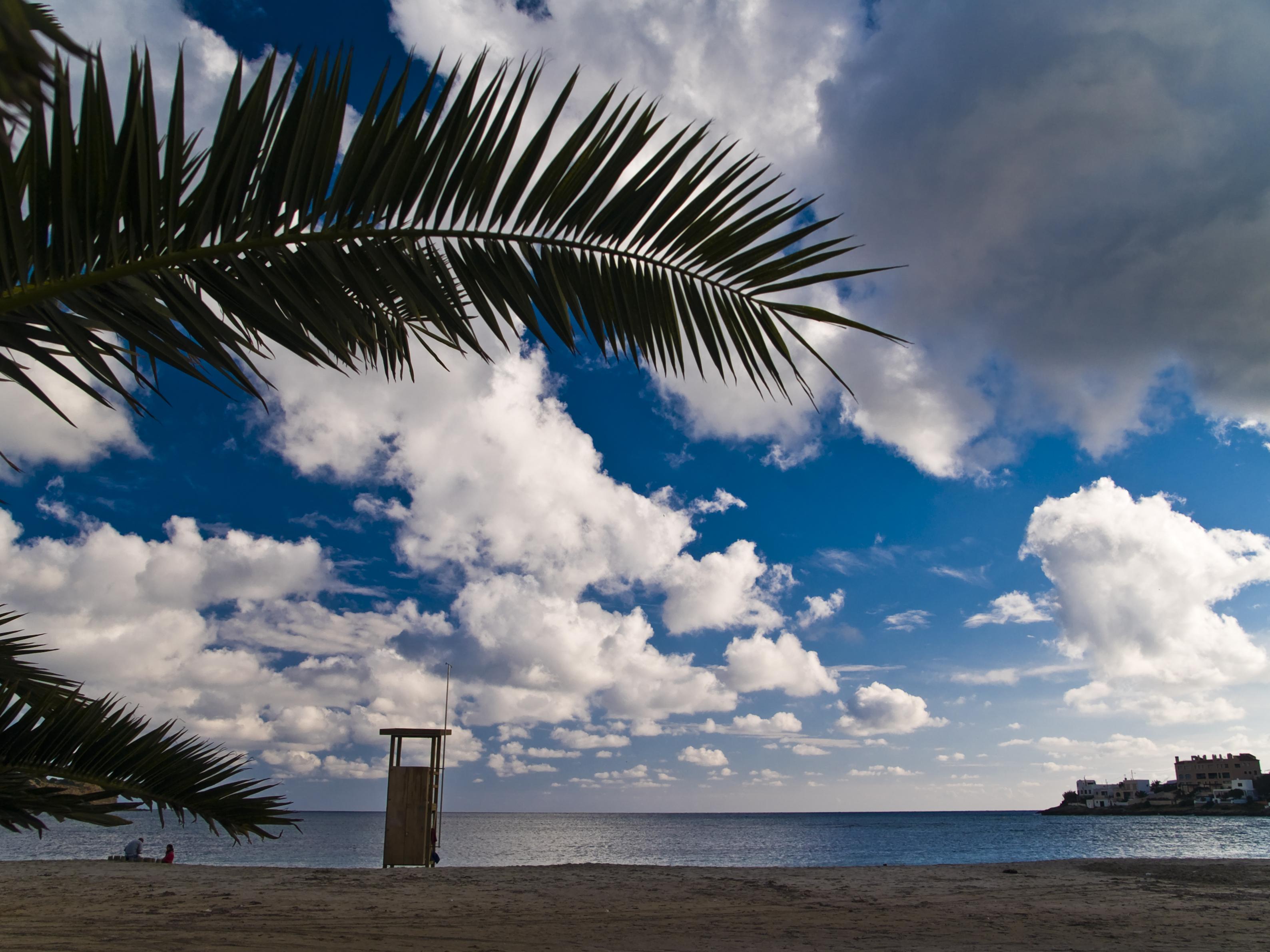 Foto playa Punta de Baix. hivern a Talamanca