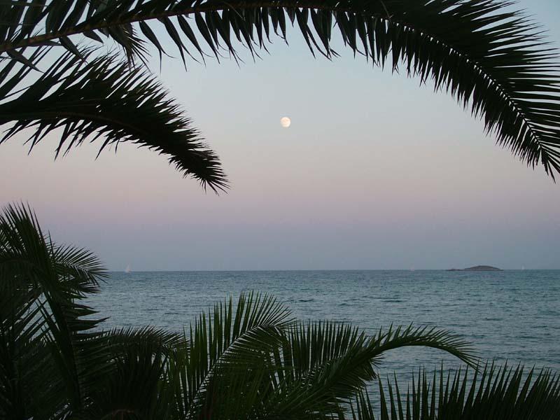 Foto playa Ses Figueretes. Paseo de las Pitiusas