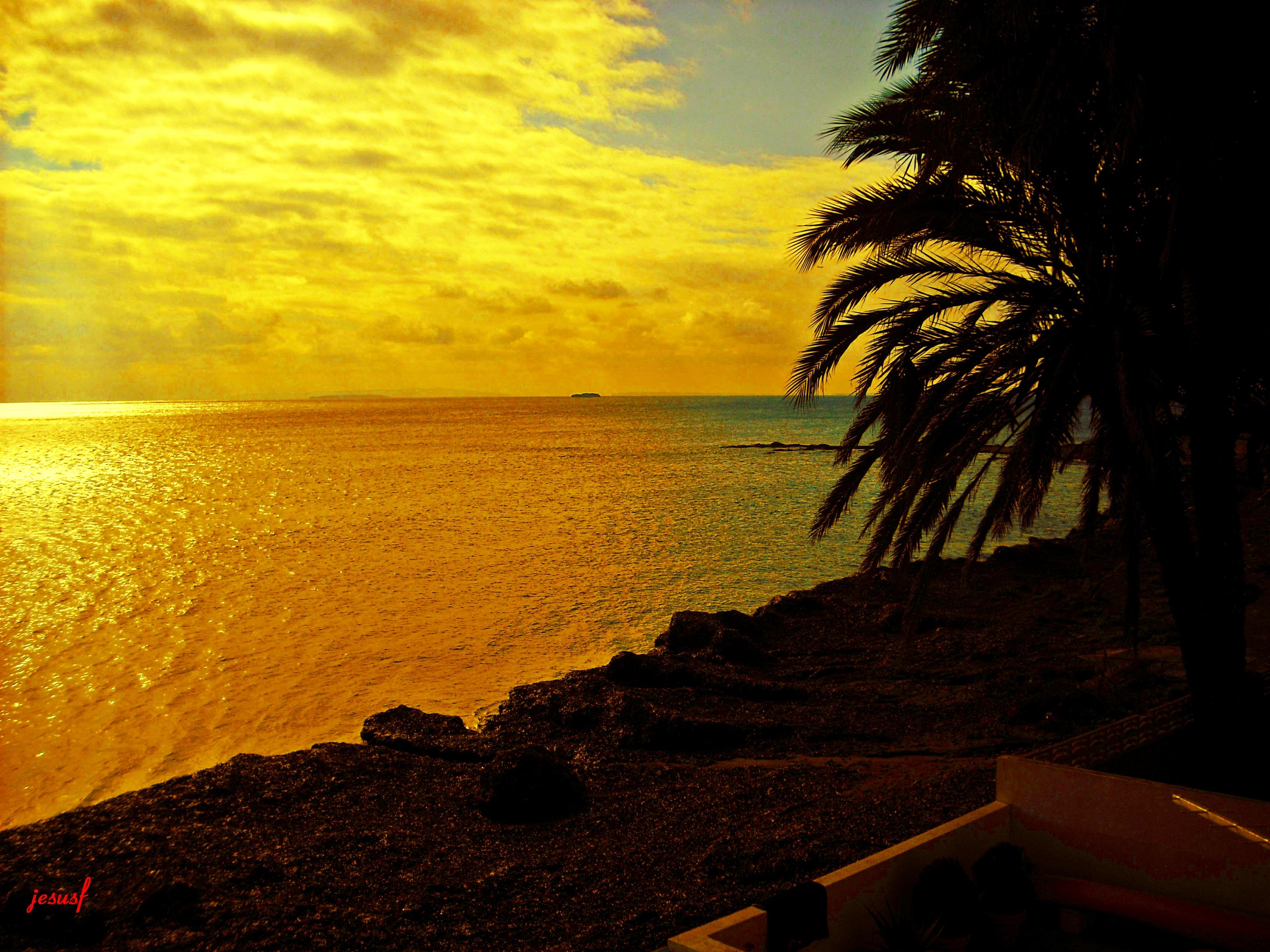 Foto playa Es Vivé. Amanecer en Ibiza