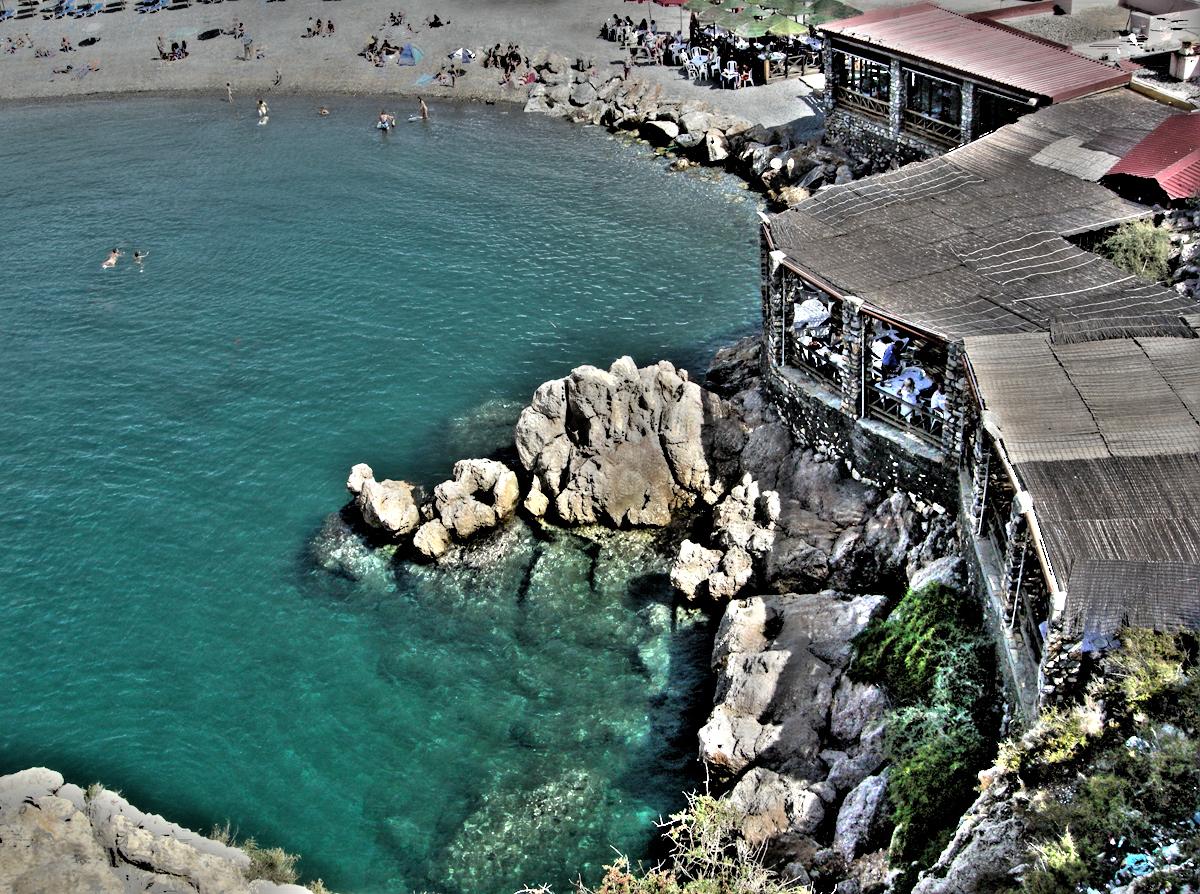 Foto playa La Charca / Salomar. Un restaurante con vistas