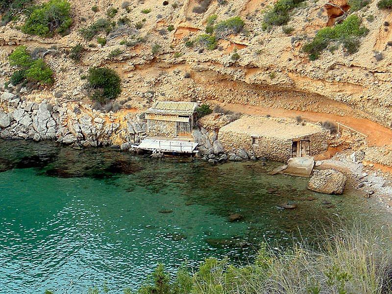 Foto playa Cala de Porroig. Caseta pescador