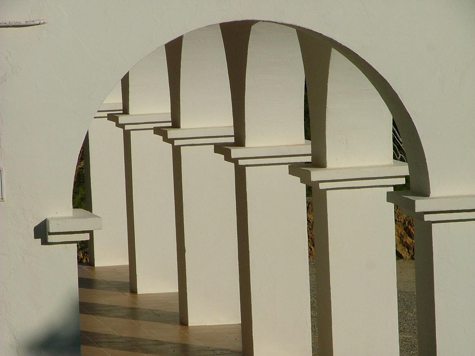 Foto playa Les Ovelles. Geometría