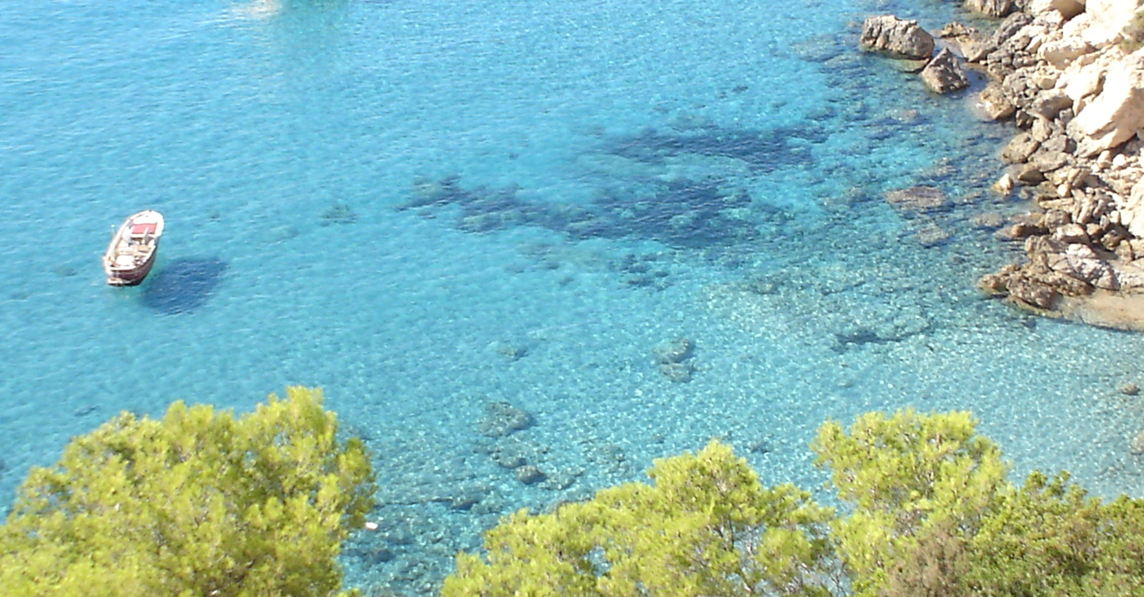 Foto playa Cala Llentrisca. Ibiza