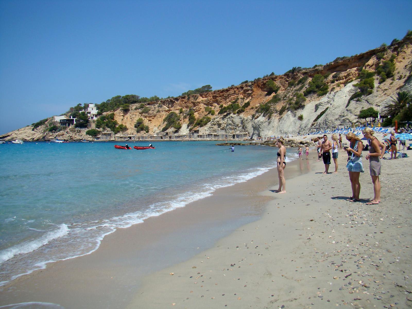 Foto playa Cala Llentrisca. 2008.07. - Ibiza, In the Cala d´Hort beach