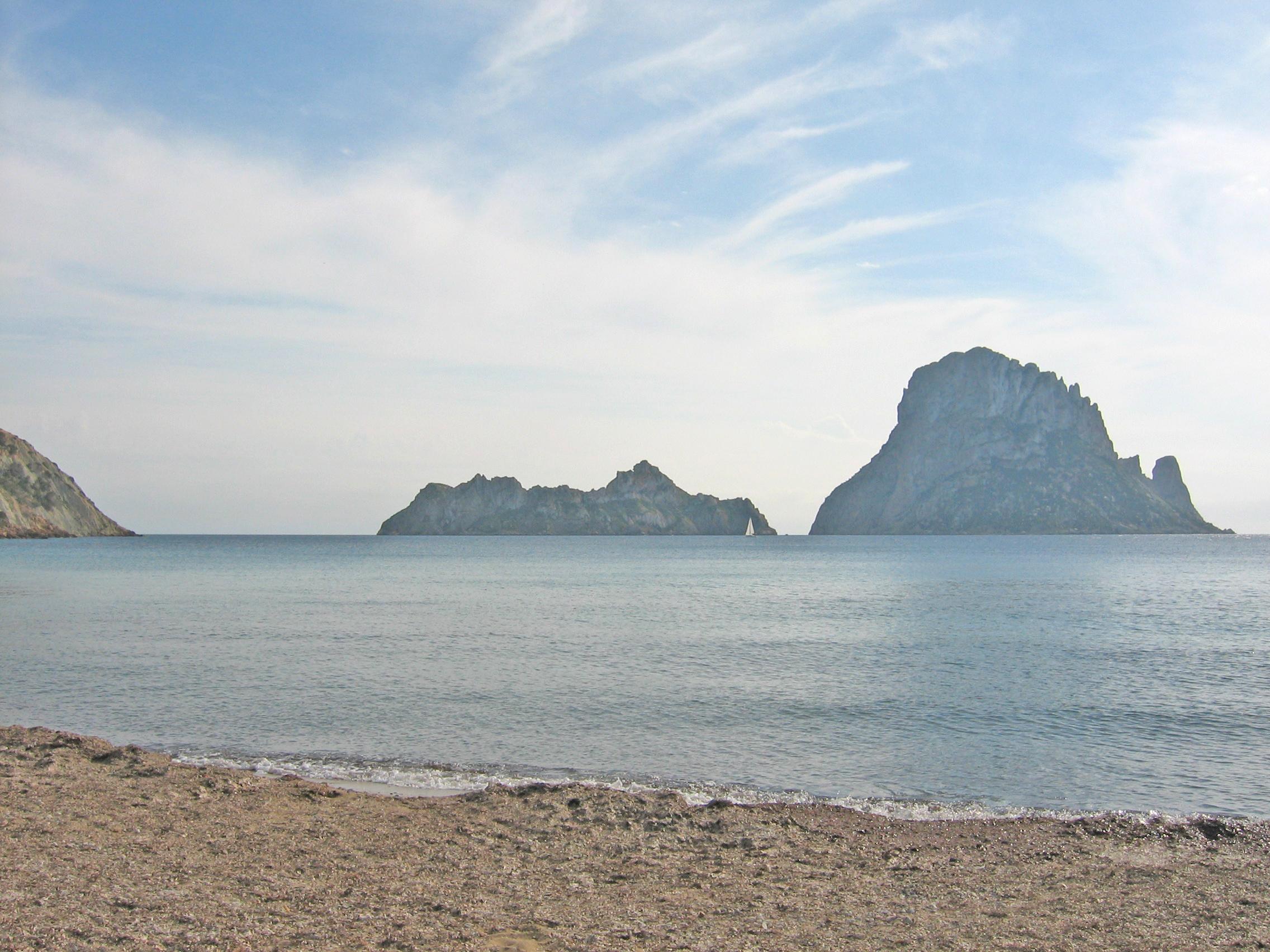 Foto playa Cala Truja. Cala d´Hort: Illes d´Esvedrà i Esvedranell 2