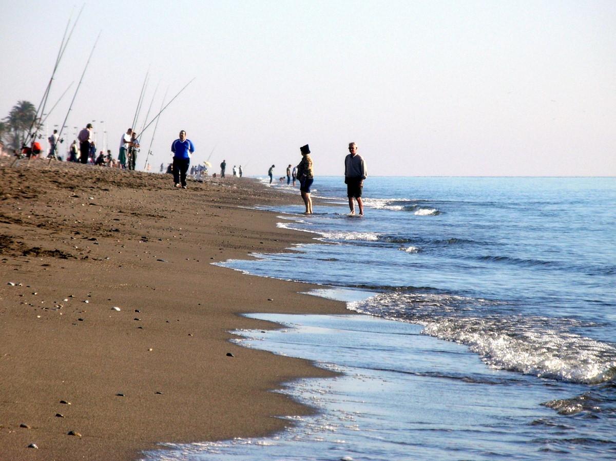 Foto playa La Guardia. Tarde de playa