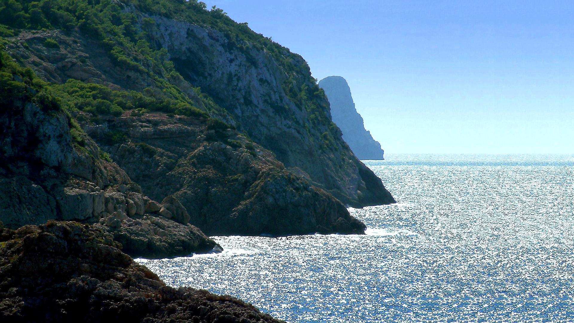 Foto playa Cala Vedella. 2006.09. - Ibiza, silver sea - Ibiza, ezüst tenger