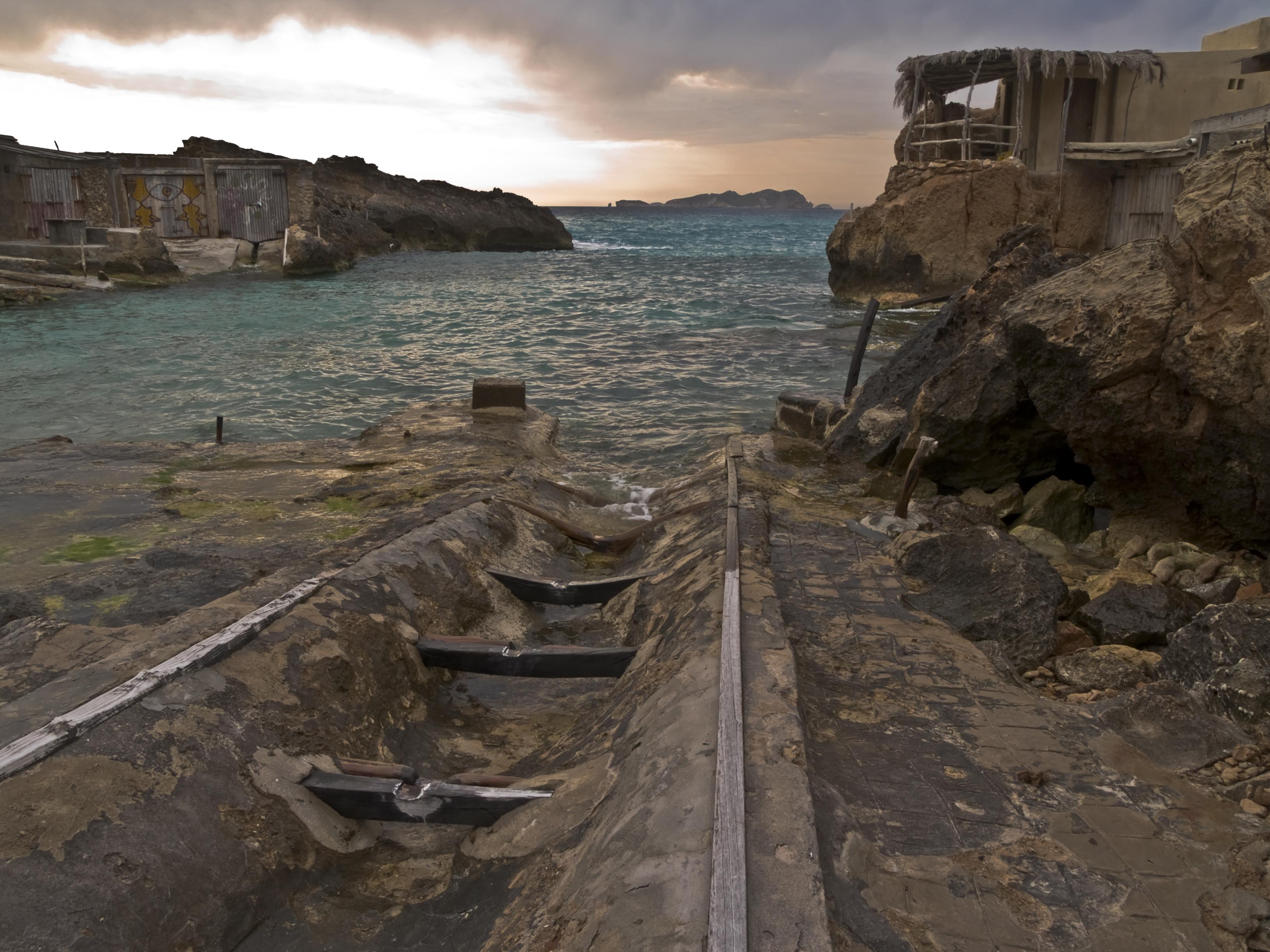 Foto playa Cala Corral. Amagatalls de Cala Tarida