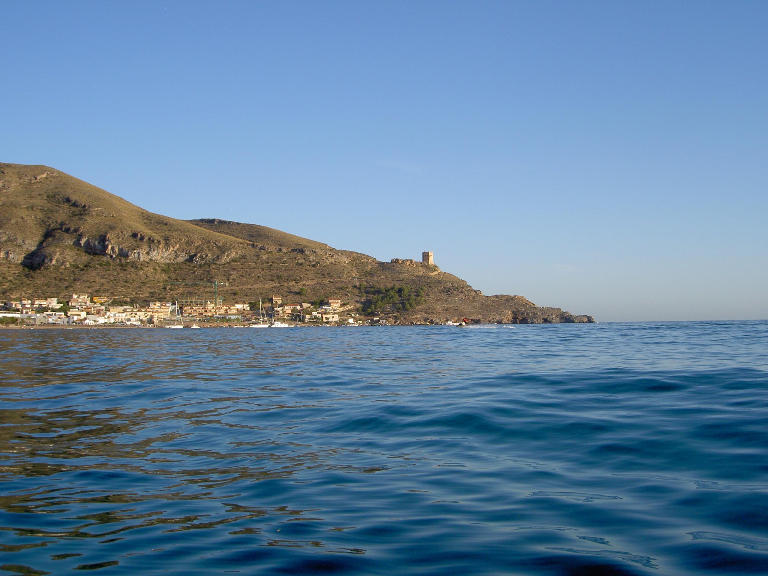 Foto playa Pinet. Torre de Santa Elena , La Azohia, Cartagena,(Estepa 32)