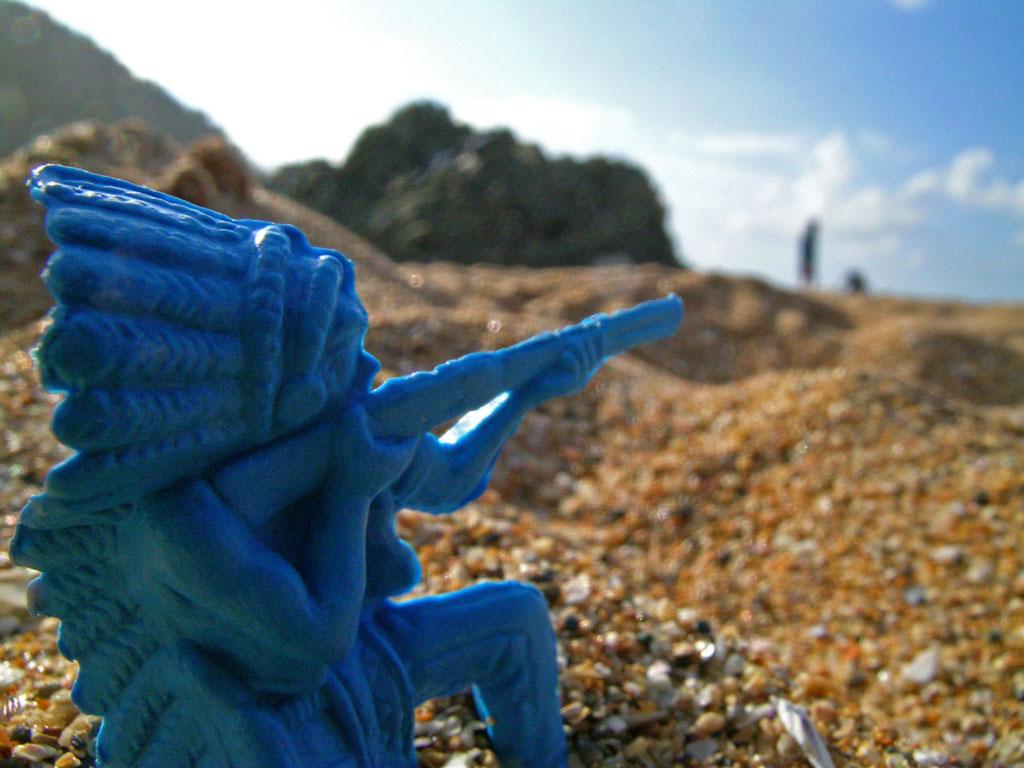 Foto playa Laga. Haciendo el Indio