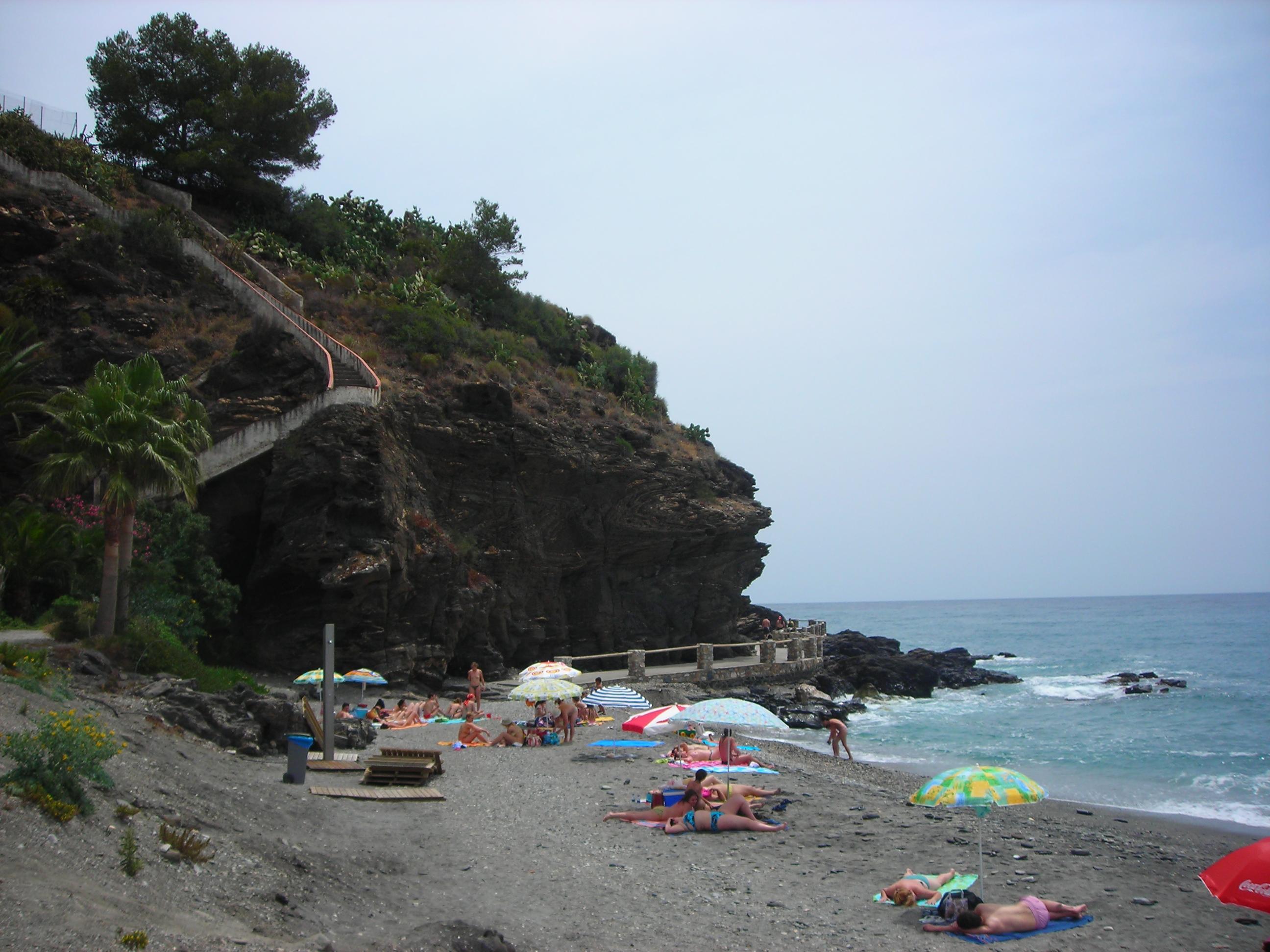 Foto playa Barranco de Enmedio. Playa de Cabria, mayo de 2006