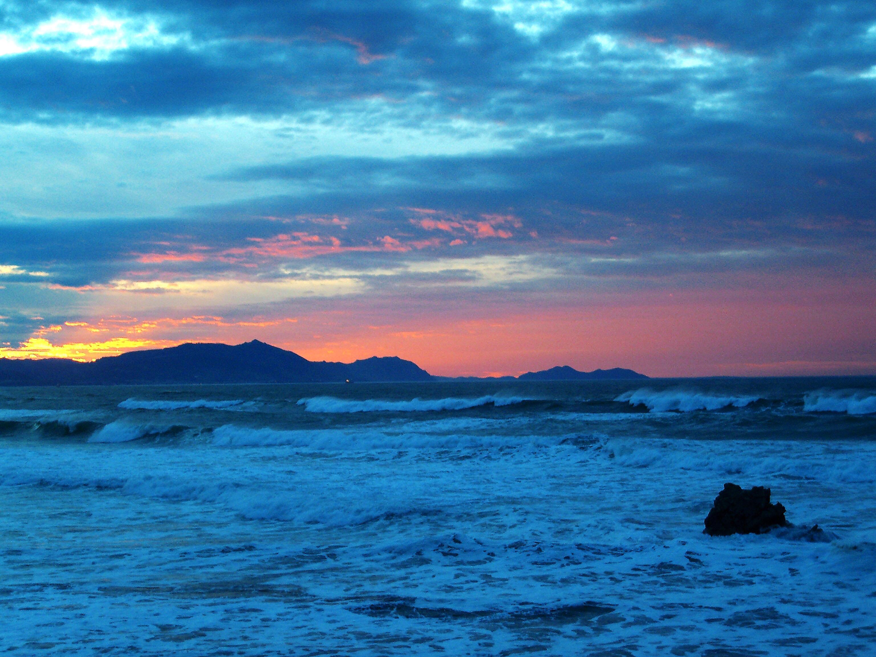 Foto playa Meñakoz. Atardecer en Sopelana